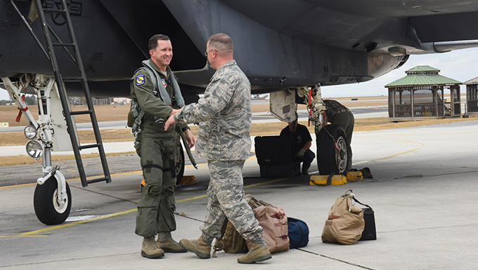 4th Fighter Wing commander personally delivers F-15 to WR-ALC