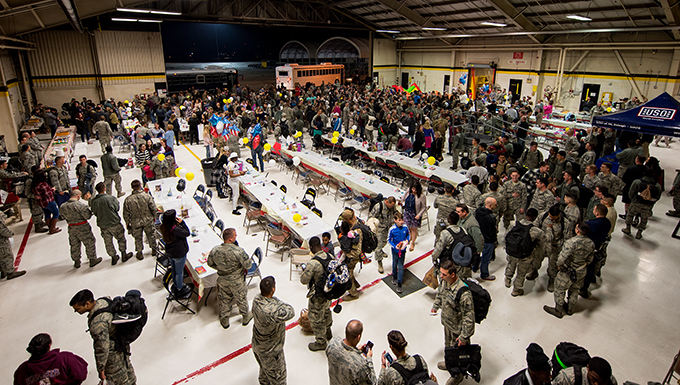 Families, friends welcome back members of the 4th FW
