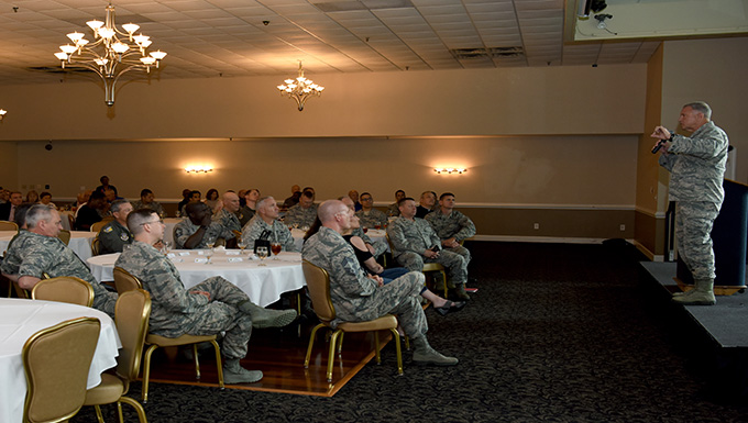Air Force Deputy Chief of Chaplains visits Team Seymour for a National Prayer Luncheon