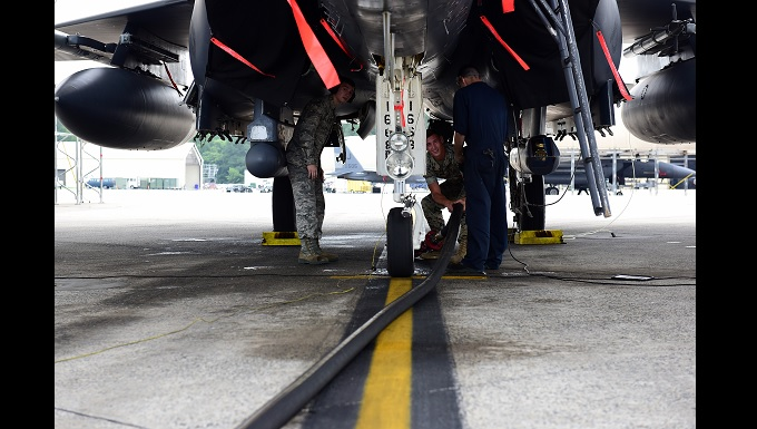 Airmen, Marines work together at SJAFB